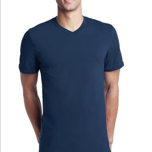 Theory Shirts - Theory Classic V-Neck Cotton/Spandex Fitted Tshirt